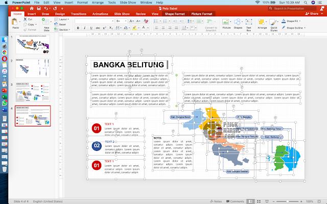 Peta Provinsi Babel Powerpoint
