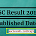SSC Result 2018 Published Date