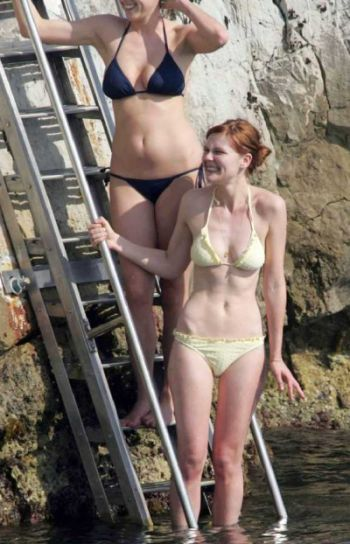 Retro Bikini Kirsten Dunst Wears White Bikini At Cap d