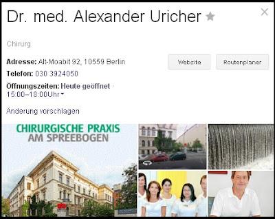 Dr. med. Alexander Uricher - Proktologische Behandlung in Berlin