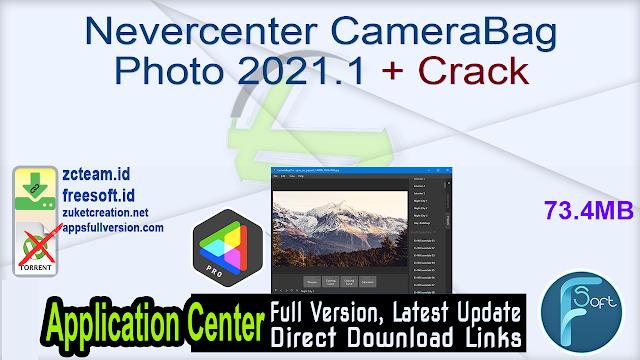 Nevercenter CameraBag Pro 2021.1 + Crack
