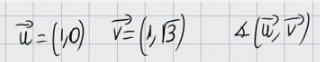 19.Ángulo formado por dos vectores