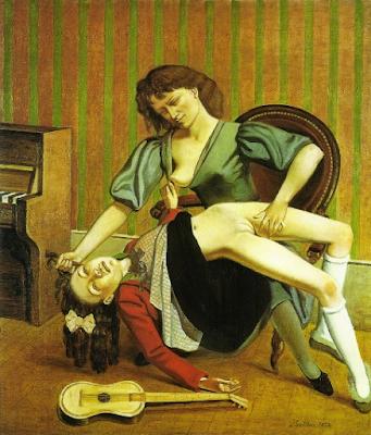 Balthus - La leçon de guitare,1934.