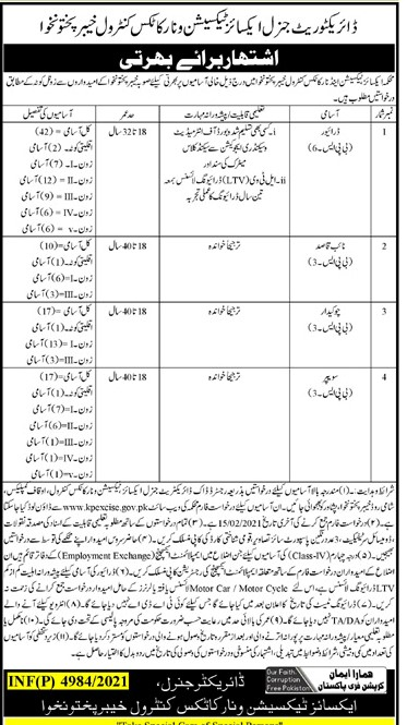 Careers & Jobs - Excise Taxation & Narcotics Control Department Jobs 2021 - Excise and Narcotics KPK Jobs 2021 Application Form - www.kpexcise.gov.pk