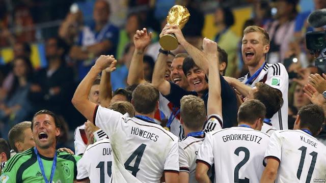 Đội tuyển Đức nâng cup vô địch WC 2014 trên đất Brazil