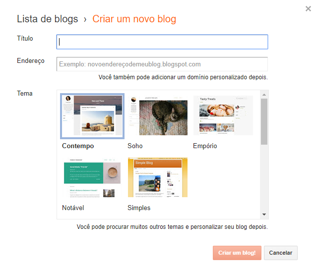 Como criar um blog gratuito