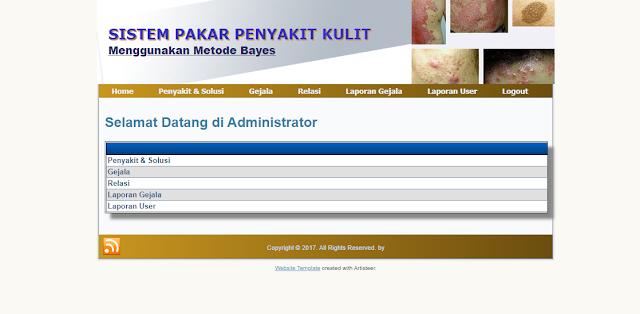 Download Aplikasi Sistem Pakar Diagnosa Penyakit Kulit Berbasis Web