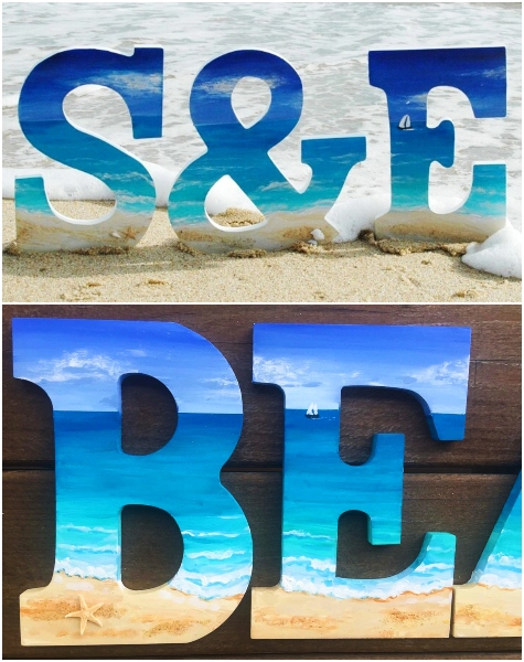 Painted Beach Letters