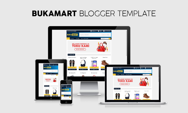 BukaMart,Template Toko Online Blogspot Responsive Gratis