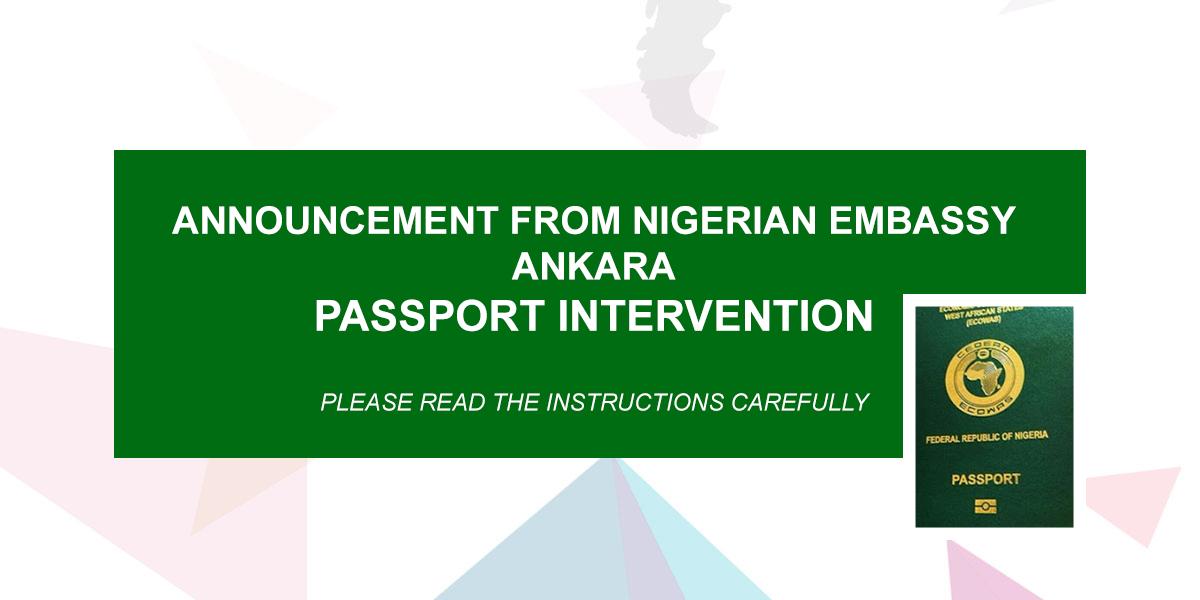 Passport Intervention Team From The Nigeria Embassy Ankara Will Be