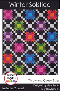Winter Solstice Quilt Pattern by Myra Barnes of Busy Hands Quilts
