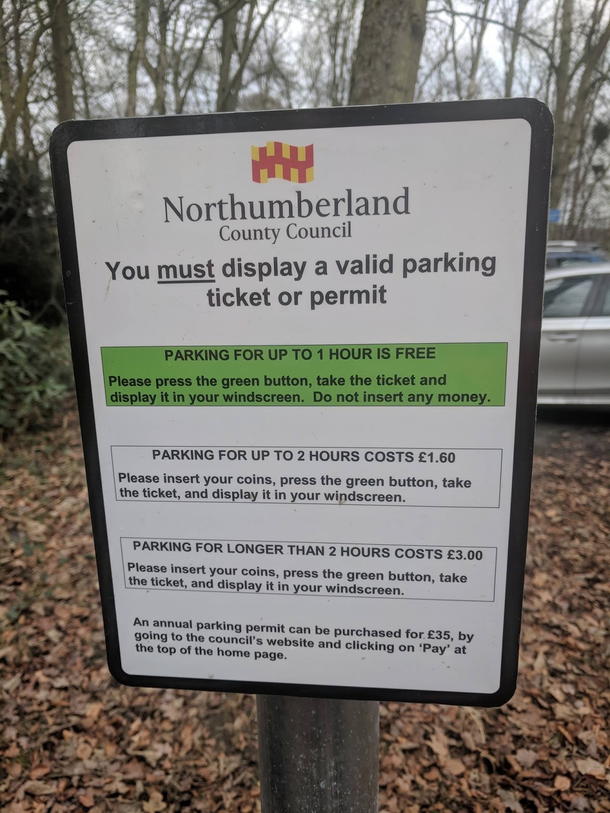 A Guide to Visiting Bolam Lake, Northumberland  - car parking charges
