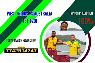 Sure 1st T20 Match WI vs Aus Who will win Today Astrology Cricfrog