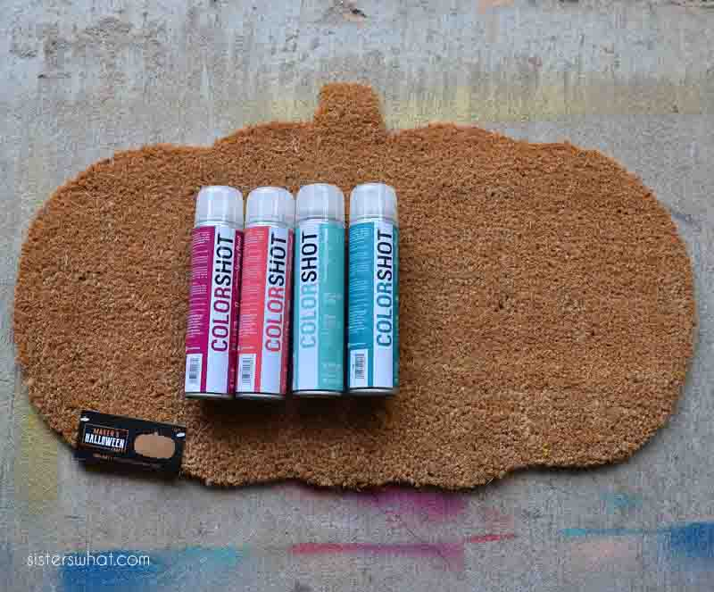 how to spray a door mat colorshot