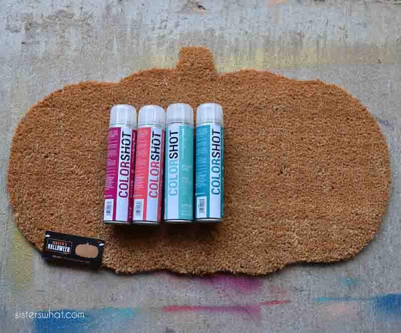 how to spray a door mat colorshot