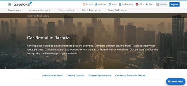 Harga Rental Mobil Jakarta - Blog Mas Hendra