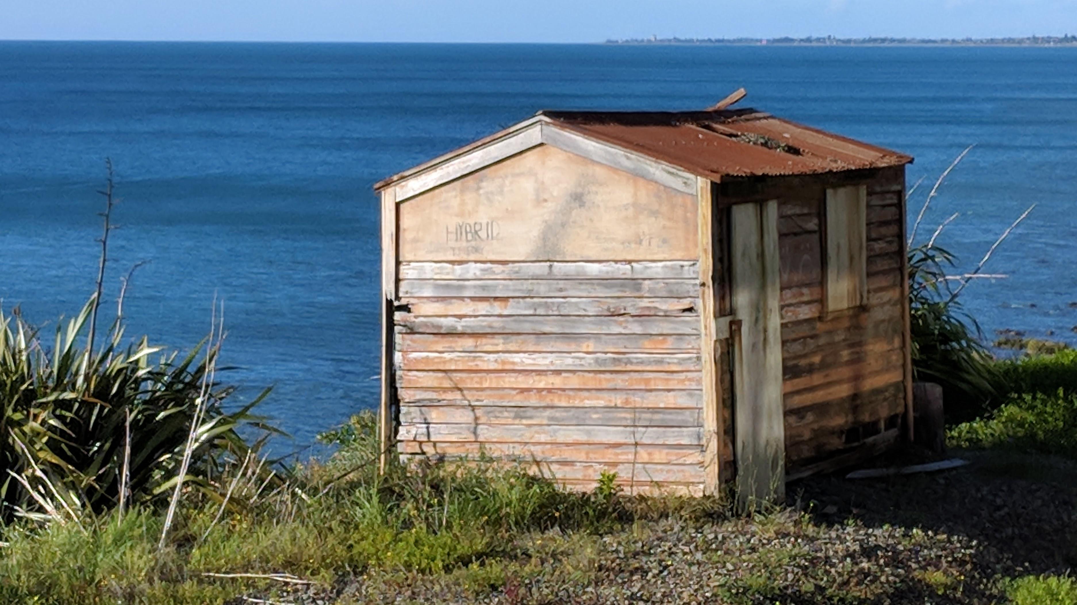 Railway shed on the Paekākāriki Hill, Wellington