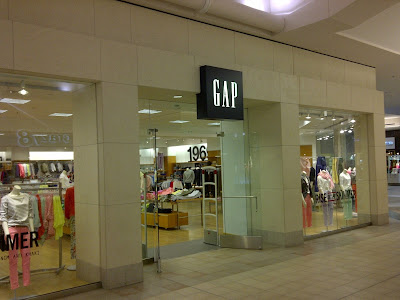 Gap Storefront in shopping mall