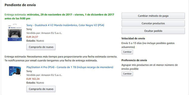 Como anular un pedido en Amazon