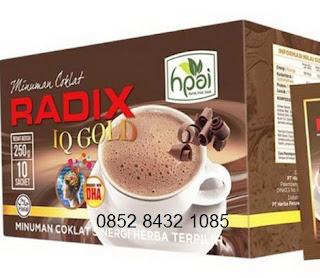 Khasiat coklat radix IQ Gold hpai minuman Kecerdasan Otak plus DHA