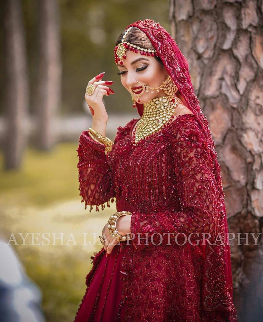 Bridal in Red Dress 2020