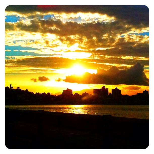 Por do sol em Florianópolis