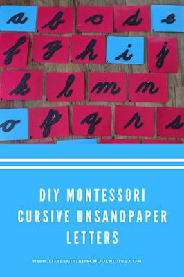 DIY Montessori Cursive Unsandpaper Letters Sandpaper Letters Pinterest Graphic and Link