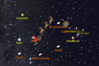 Santa tracker on Star Walk app
