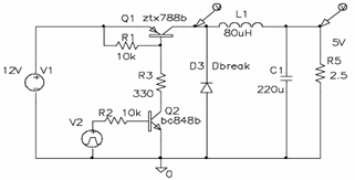 DC-DC Step Down Converter Circuit