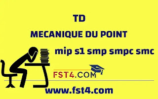 TD MECANIQUE DU POINT MATERIEL MIP PDF