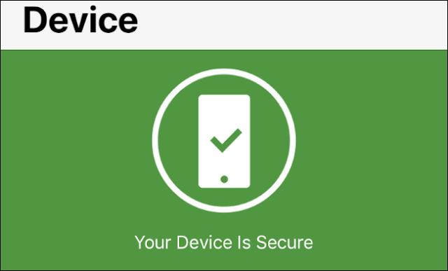 حالة تنبيهات نظام التشغيل في Norton Mobile Security لنظام iOS