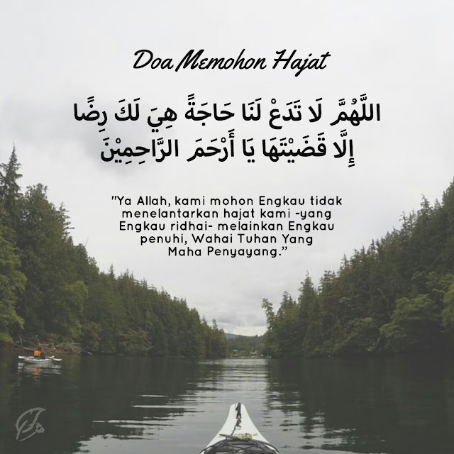 Mohon ridha Allah