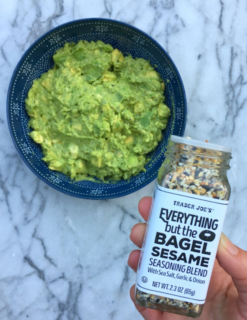 Amazing Guacamole Recipe and other Ideas for using Trader Joe's Everything but the Bagel Seasoning!
