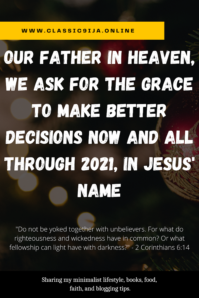 Grace to Make Better Decisions (2 Corinthians 6:14)