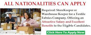 Warehouse Assistant Job Recruitment in J & T Express Courier Company Dubai