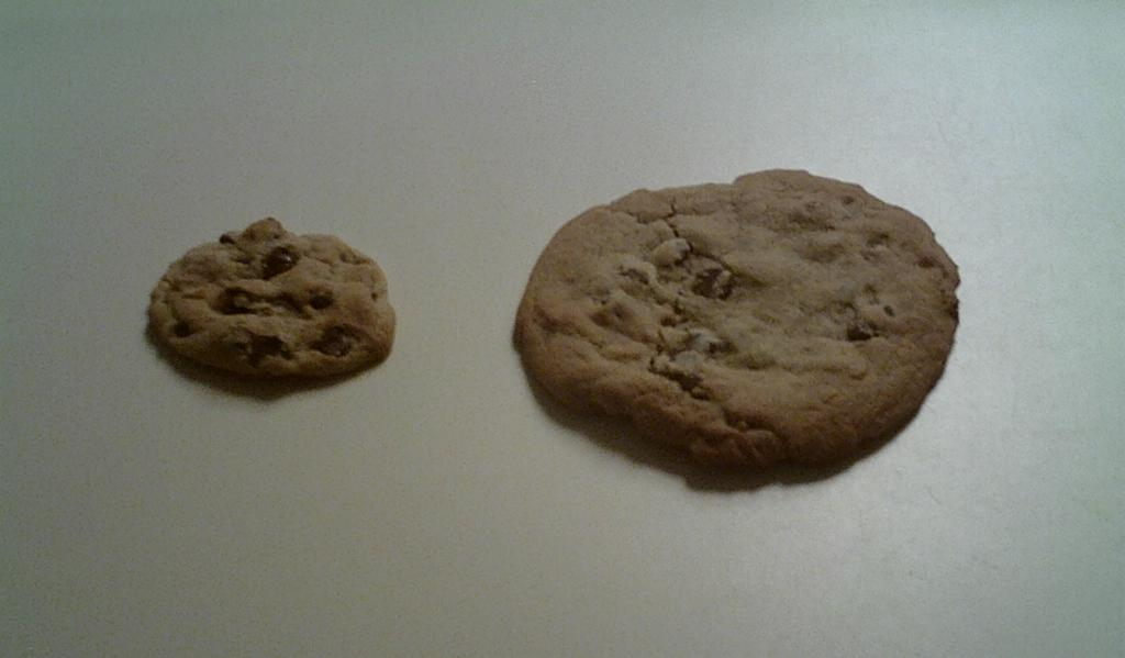 How To Bake Cookies with Dad. I get the big cookie and Dad gets the little cookie.
