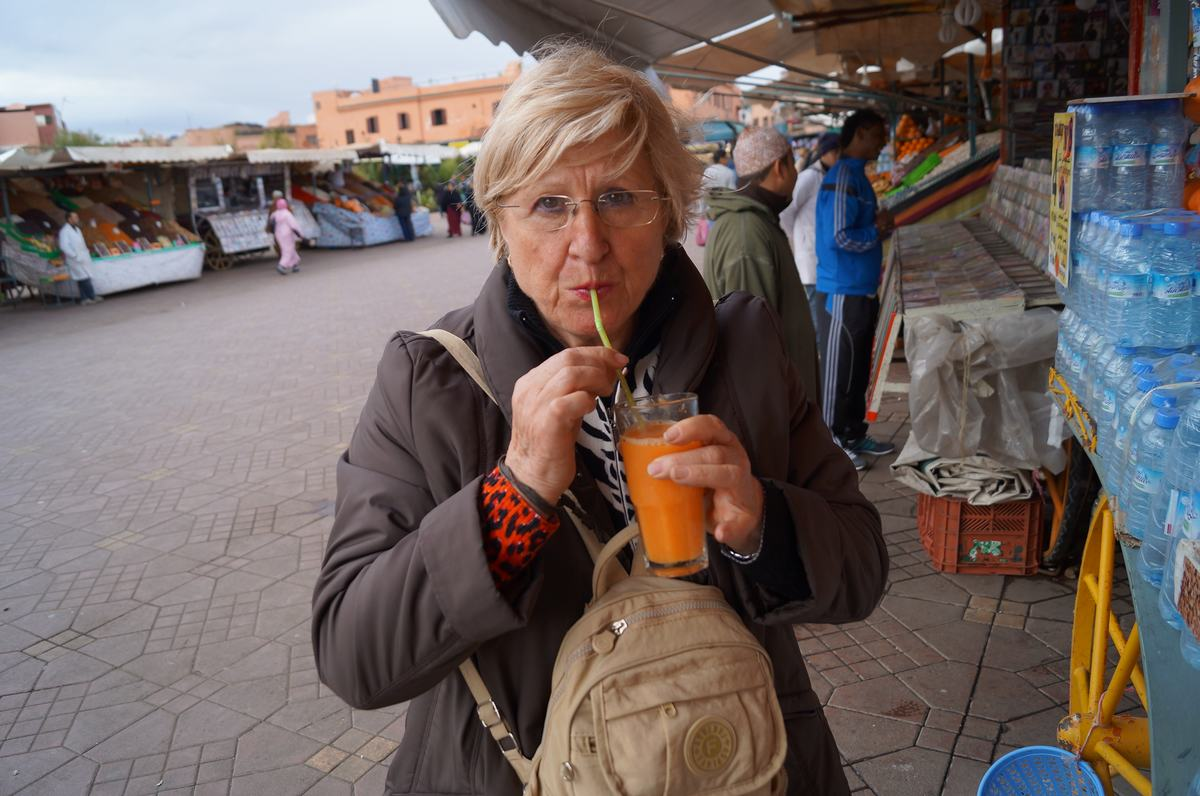 zumos de naranja, plaza Djemaa el Fna