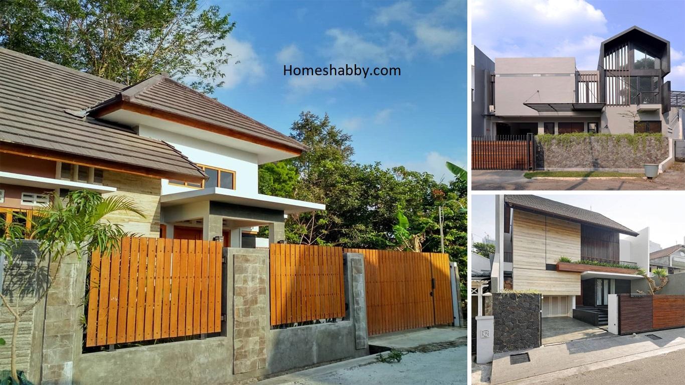 6 Model Pagar Rumah Minimalis Dengan Batu Alam Terbaru 2021 Homeshabby Com Design Home Plans Home Decorating And Interior Design