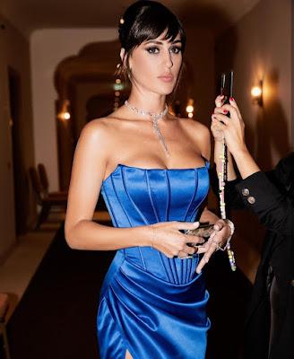 Cecilia Rodriguez vestito blu Venezia foto