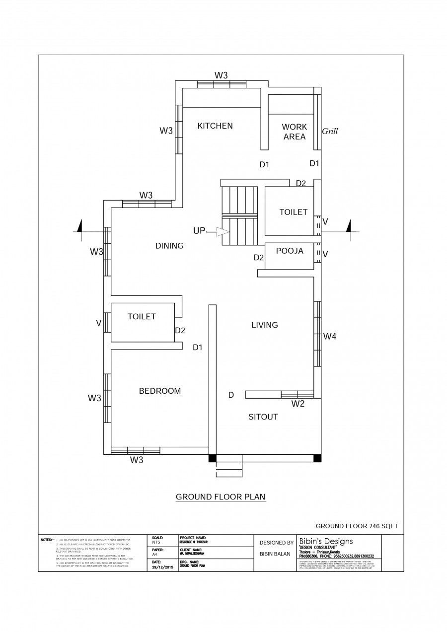 Free House Plan 1371 sq ft 3 Bedroom Beautiful Home Design - Indian ...