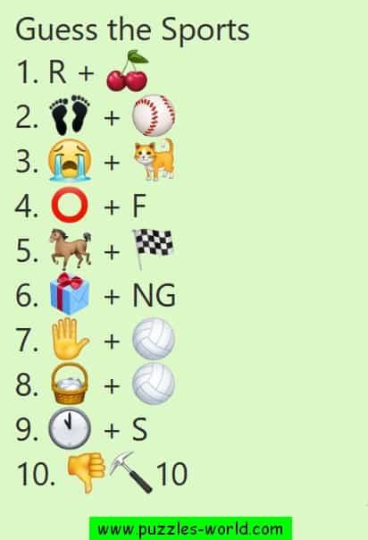 Guess the sports Emoji Quiz