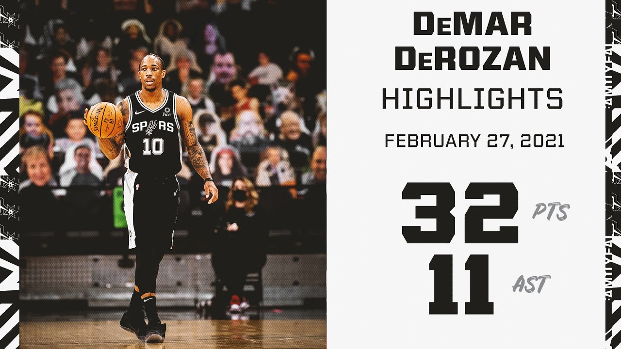 DeMar DeRozan 32pts 11ast vs NOP   February 27, 2021   2020-21 NBA Season