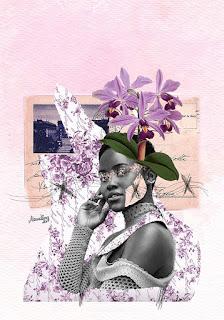 Colagem Lupita Nyong'o por Maria Rosa
