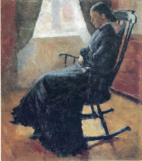 Эдвард Мунк - Тетя Карен в кресле-качалке. 1883