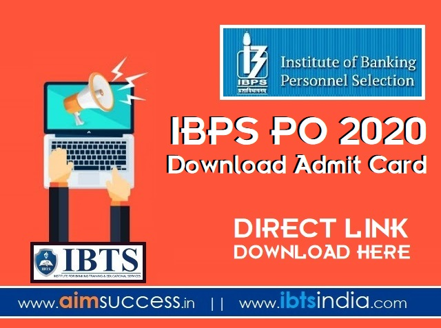 IBPS PO 2020  Download Admit Card