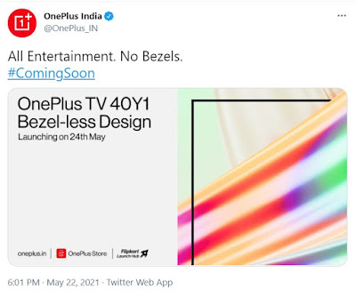 OnePlus TV News on Twitter