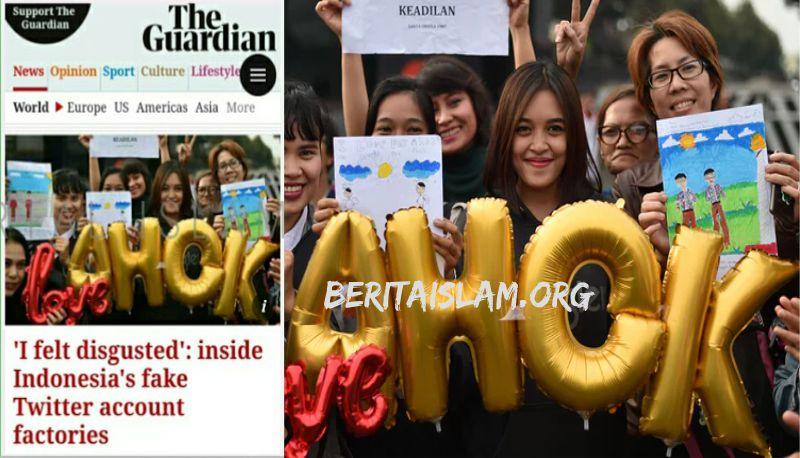 Kuapook! Media Internasional The Guardian Bongkar Pabrik Akun Twitter Palsu Pendukung Ahok