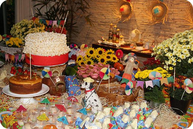 Decoração de Festa Caipira - Junina : Mesa