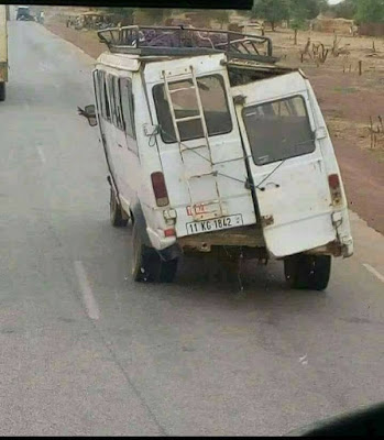 Un camionnette un peu douteuse. Vivement la reprise !
