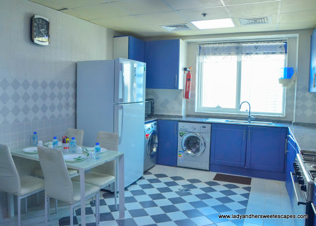 Kitchen in OYO Home Dubai